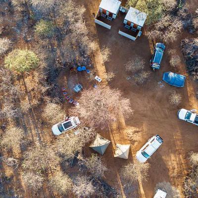 Aerial View of Campsite 1